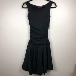 Velvet Graham & Spencer Black Ruch Flare Dress